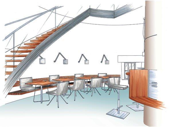 gastronomie im wasserturm dds das magazin f r m bel und ausbau. Black Bedroom Furniture Sets. Home Design Ideas