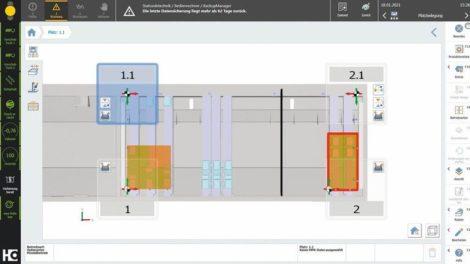 CNC-Konsole von Homag: Die PC 87 Platzbelegung ermittelt die beste Saugeranordnung mit den auf der Maschine vorhandenen Spannmitteln Foto: Homag Group AG