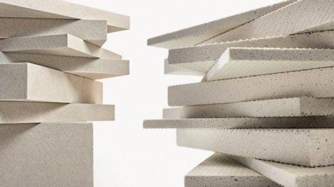 Leichtbauplatten aus Verolith (links) und Blähglas Foto: Verotec