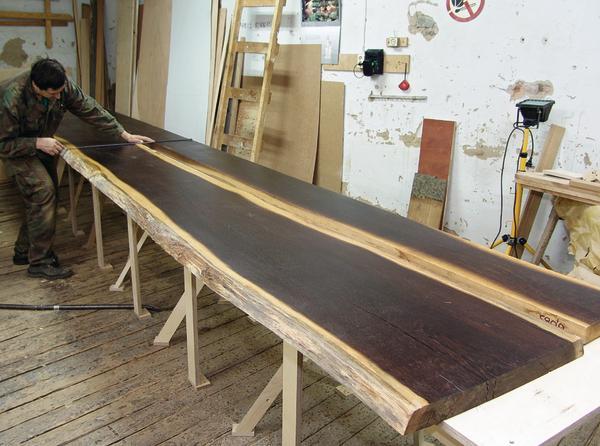 Kunstschreiner benutzt f r 6 m lange arbeitsplatte for Arbeitsplatte 3 meter