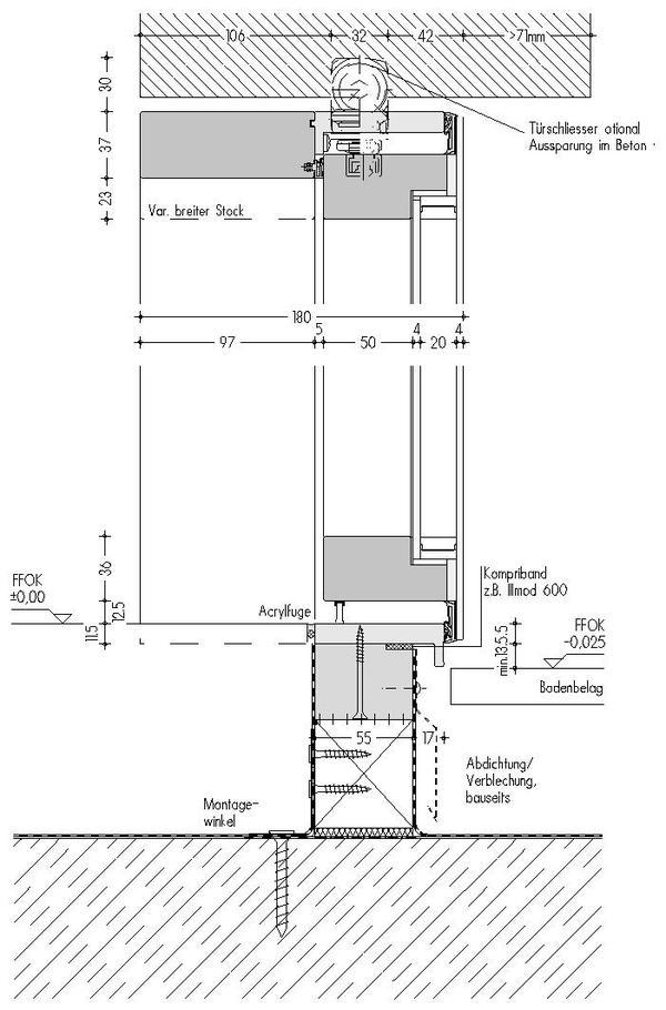 Haustür vertikalschnitt  Entree für Puristen. - dds – Das Magazin für Möbel und Ausbau