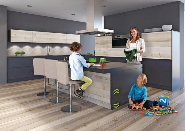 auch die insel f hrt auf die passende h he dds das magazin f r m bel und ausbau. Black Bedroom Furniture Sets. Home Design Ideas