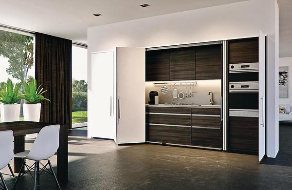 die ganze k che verschwinden lassen dds das magazin f r m bel und ausbau. Black Bedroom Furniture Sets. Home Design Ideas