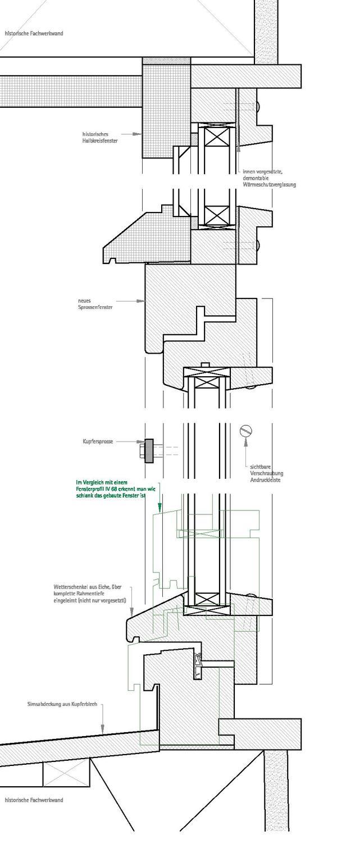Fenster Bad Cannstatt :  gebaute Rathaus von Bad Cannstatt erstrahlt seit 2013 in neuem Glanz
