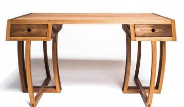 Der Schreibtisch von Angelo Kaiser steht auf dem ersten Platz beim Sächsischen Meisterpreis