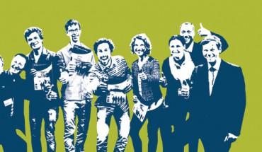 Gruppenbild mit Damen (v.l.n.r.): Alexander Prokisch (Homag Group), Hans Graffé (dds), die Preisträger Jonas Eiling, Manuel Chmiel, Sven Flösser und Lea Hailer, Silvia Pirro (Festool GmbH), Sven Weidemann (Ostermann GmbH), Lorenz von Schintling-Horny (Arthur Francke'sche Stiftung)