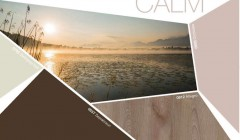Ein Holzdekor und drei dazu passende, erdige Farbtöne: Dekorgruppe »Calm«