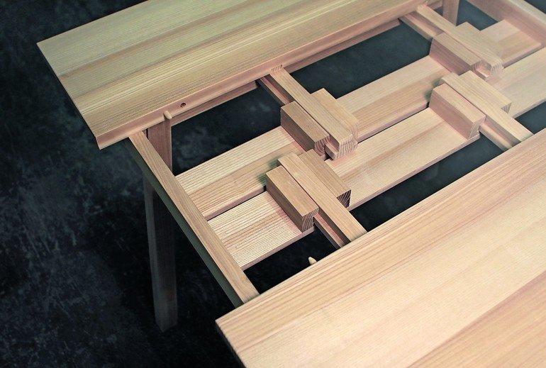 ausziehtisch konstruktion. Black Bedroom Furniture Sets. Home Design Ideas