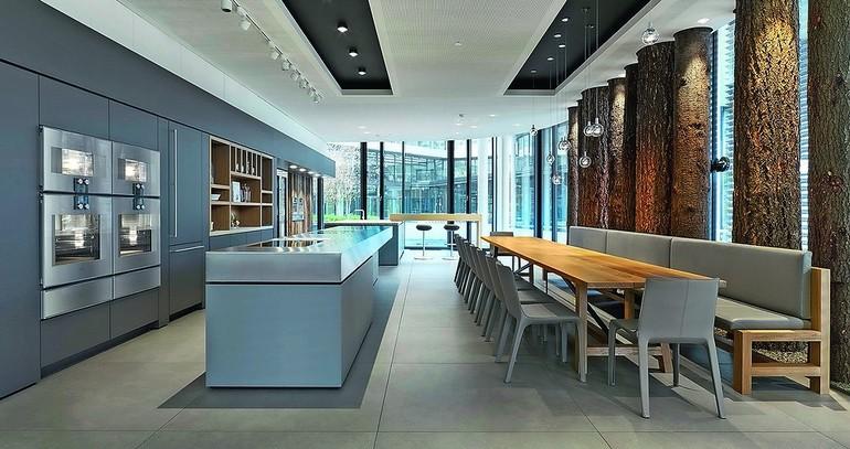 hier br t die elite kochen als kunst in gaggenau showrooms dds das magazin f r m bel und ausbau. Black Bedroom Furniture Sets. Home Design Ideas