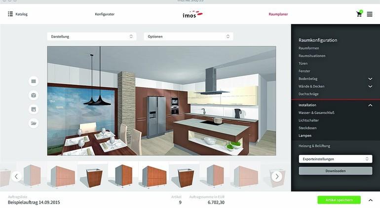 von der vision zur wirklichkeit online konfigurator zum verkaufen ma gefertigter m bel von imos. Black Bedroom Furniture Sets. Home Design Ideas