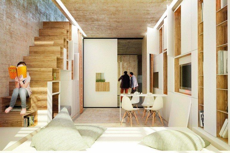 ideen f r das wohnen auf kleinstem raum. Black Bedroom Furniture Sets. Home Design Ideas