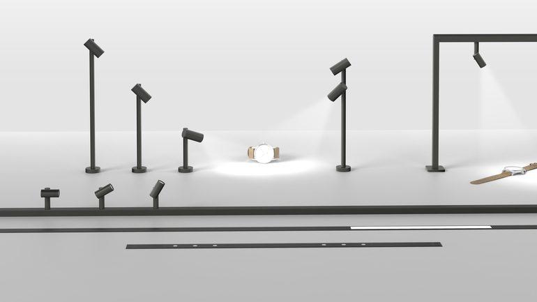 werte im rampenlicht modulare mini led strahler von hera. Black Bedroom Furniture Sets. Home Design Ideas