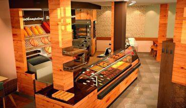 Visualisierung einer Bäckerei, Seitenansicht, von Ladenbau Böschen - erstellt mit der CAD-Software von Pytha