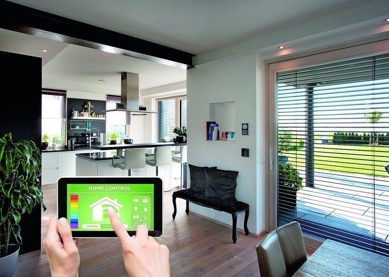 home smart home elektronisch vernetzte fenster haust ren und jalousien von kneer dds das. Black Bedroom Furniture Sets. Home Design Ideas