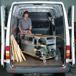 mobile werkstatt auf der baustelle dds das magazin f r m bel und ausbau. Black Bedroom Furniture Sets. Home Design Ideas