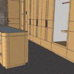 BIM im Innenausbau: Schon früh wird festgelegt, wo beispielsweise die Vorderkante eines Schranks auf den Fußboden trifft