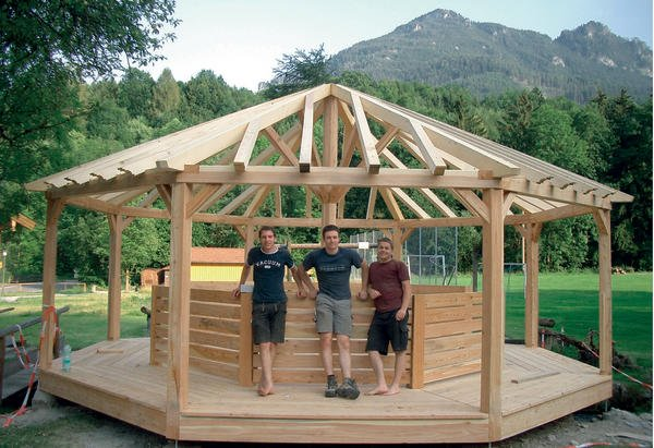 rosenheimer holztechniker bauen pavillon dds das. Black Bedroom Furniture Sets. Home Design Ideas