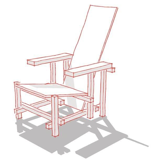 Rietveld stuhl zeichnung  Konstruieren für Einsteiger. - dds – Das Magazin für Möbel und Ausbau