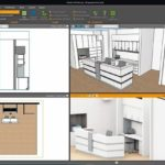 Planungsansicht in Palette CAD: Hieraus entsteht auf Knopfdruck eine ansprechende Visualisierung für die Präsentation beim Kunden Screenshot: Palette CAD
