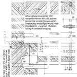 Gesellenstücke aus den SHG Garmisch-Partenkirchen: Vertikalschnitt Truhe