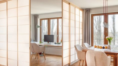Shoji zonieren Räume