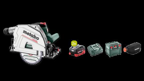 Gewinne im Mai eine neue 18-Volt-Akku-Tauchkreissäge KT 18 LTX 66 BL von Metabo mit umfangreichem Zubehörpaket