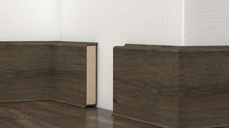 Die Kernsockelleiste Cubu Decor von Döllken Profiles gibt es in mehr als 300 Dekoren
