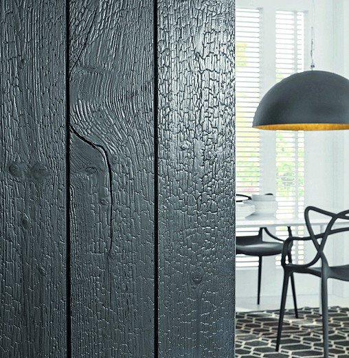ein hauch von kohle karbonisiertes holz als fertigpaneel f r innen und au en dds das. Black Bedroom Furniture Sets. Home Design Ideas