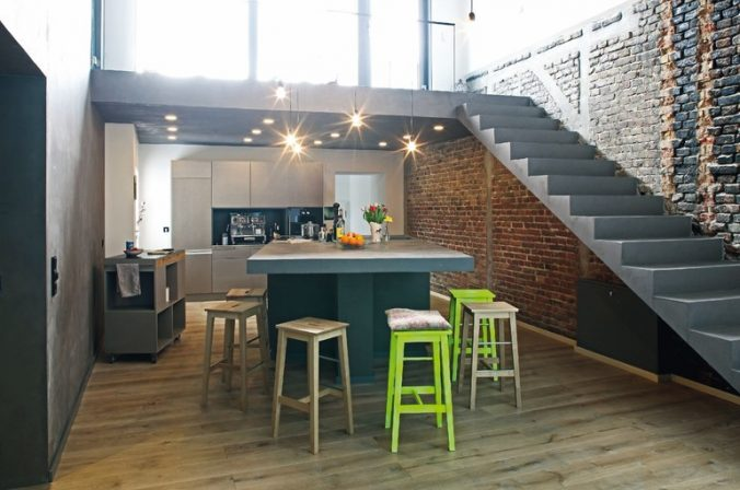 loft interieur mit schlichtem design bilder, vom dachboden zum loft, Design ideen