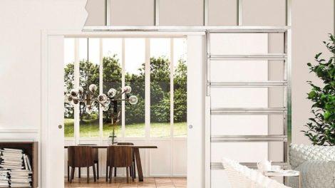 Offenes Wohnen mit Raumteiler: Schiebetüren im Großformat von Eclisse machen es möglich Foto: Eclisse Deutschland GmbH