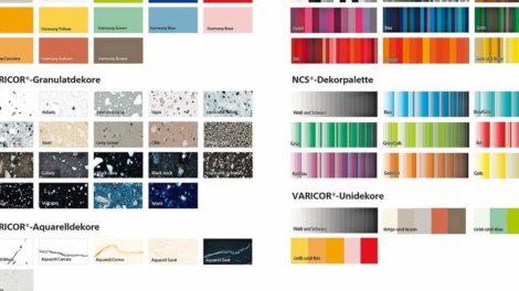 Individueller Mineralwerkstoff: Zur Grundfarbe lässt sich im Varicor-Farbkonfigurator eine Aquarell- oder Granulatstruktur hinzuwählen Screenshots: Varicor