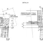 Gesellenstücke aus den SHG Garmisch-Partenkirchen: Vertikalschnitt Truhendeckel