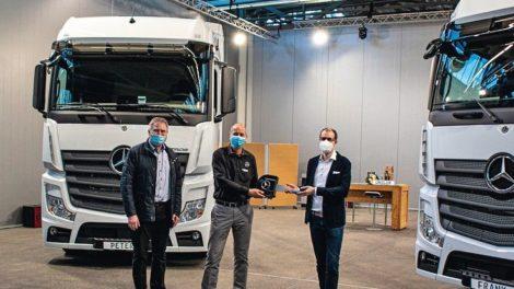 Unilux modernisiert die Flotte und nimmt seine neuen LKWs in Empfang Foto: Unilux/Weru Group