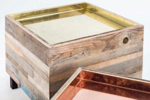 Schreinerhandwerk in der Schweiz: Handwerklich produzierte Möbel aus der Schweiz, hier aus Altholz und Metall von Tobias Kyburz, überzeugen meist auch durch anspruchsvolles Design