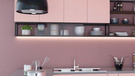 Das Möbelbausystem »Cadro« in Verbindung mit dem Schubkastensystem »AvanTech You« macht's auch für die Küche möglich: Offene Ablagen lockern Fronten auf und erleichtern den Zugriff Foto: Hettich Marketing- und Vertriebs GmbH & Co. KG