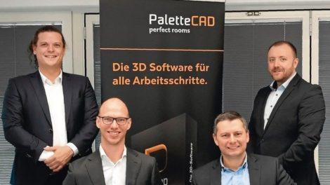 CAD made in Europe: Jeroen Smeets (li.) und Elvis Grabic (2. v. re.) Foto: Palette CAD GmbH