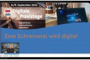 Bei den Digitalen Praxistagen ging es um Prozesse, Automation und Optimierung – wie das konkret funktioniert, davon berichtete z. B. Schreiner Mario Esch aus der Praxis Foto: dds/Konradin Medien GmbH