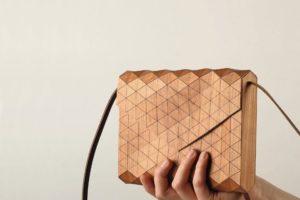 Laptoptasche aus Leinen und Furnier