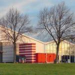 Rückansicht Hangar nach dem Umbau