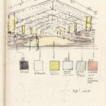 Skizze Innenraum Hangar