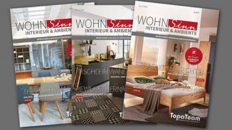 """Die TopaTeam-Kundenzeitschriftt """"Wohnsinn"""" kommt gut an Foto: TopaTeam"""