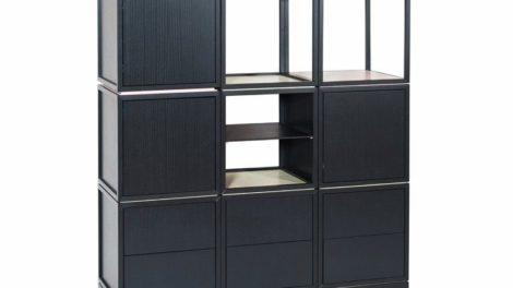Modulsystem in lackierter Esche. Meisterstück von Max Weingart, Fachschule für Holztechnik Stuttgart, 2020