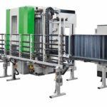 Die vertikale Durchlauf-CNC Brema Vektor mit Rücklauf