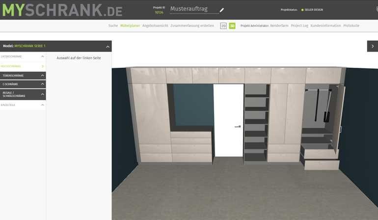 Mit dem Konfigurator »MySchrank.de« können TopaTeam-Betriebe Möbel nun auch online exakt planen und beim neuen Kooperationspartner Voit fertigen lassen Foto: TopaTeam GmbH/Voit GmbH
