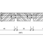 Gesellenstücke aus den SHG Garmisch-Partenkirchen: Türblatt im Horizontalschnitt