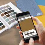 Neu entwickelte Pfleiderer-Workapp mit Dekorscanner und kreativen Funktionen