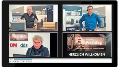 dds- Redakteur Johannes Niestrath führte durch den ersten Teil des Digitalen Praxistags von dds und BM und entlockte den Referenten Impulse für den Möbel- und Innenausbau, Foto: dds, Konradin Medien GmbH