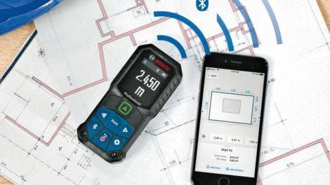 Laser-Entfernungsmesser von Bosch: Noch einfachere Dokumentation und Datenverarbeitung dank App und Cloud Foto: Bosch-Power-Tools